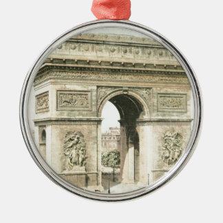 Paris, Arc de Triomphe Silver-Colored Round Decoration