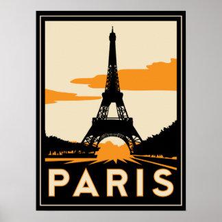 paris art deco retro poster