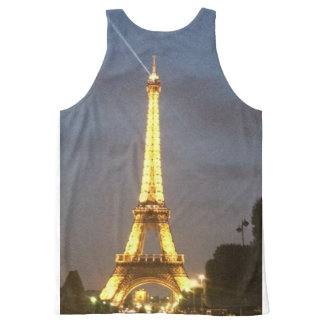 Paris at Night: Eiffel Tower All-Over Print Singlet