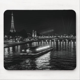 Paris at night photo mouse mat