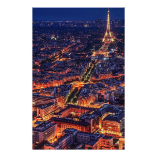 Paris at Night Stationery