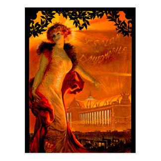 Paris Auto Show 1907 Vintage Automobile Ad Post Cards
