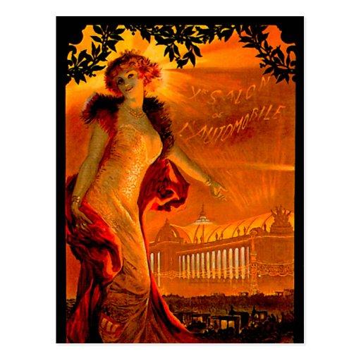 Paris Auto Show 1907 ~ Vintage Automobile Ad Post Cards