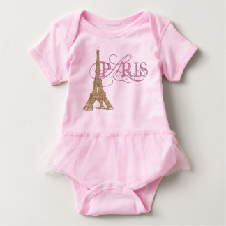 Paris Baby Girl Baby Bodysuit