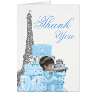 Paris Baby Shower Thank You Cards
