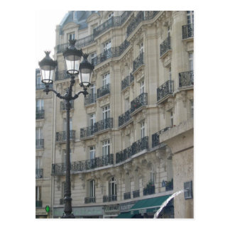 Paris balconies postcard