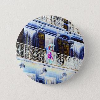 Paris Balcony 6 Cm Round Badge