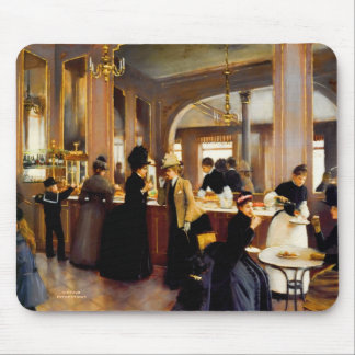 Paris Based Bakery Shoppe Vintage Art Mouse Pad