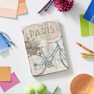 Paris Bike With Flowers iPad Air Cover