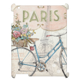 Paris Bike With Flowers iPad Cover