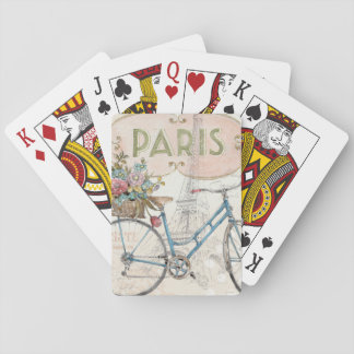 Paris Bike With Flowers Playing Cards
