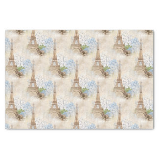 Paris Blue Hydrangea Vintage Romantic Tissue Paper