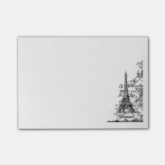 Paris Bonjour Collage Note Pad Post-it® Notes