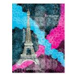 Paris Bonjour Postcard