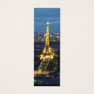Paris by Night Eiffel Tower Mini Bookmark Mini Business Card