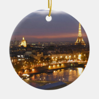 Paris by Night Round Ceramic Decoration