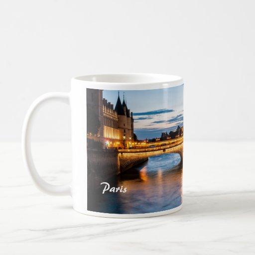 Paris by sunset mugs