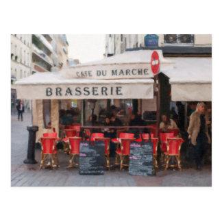 Paris Cafe Postcard - Paris, France