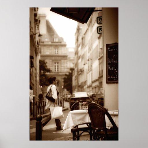 Paris Cafe Scene (V) Poster