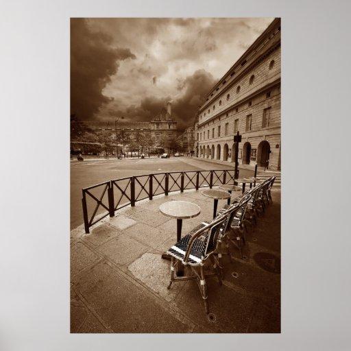 Paris Cafe Scene (VII) Posters