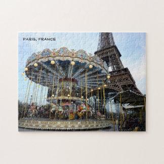 Paris Carousel (& Eiffel Tower) Jigsaw Puzzle