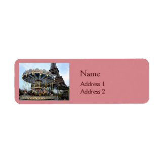 Paris Carousel (& Eiffel Tower) Return Address Label