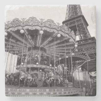 Paris Carousel Stone Beverage Coaster