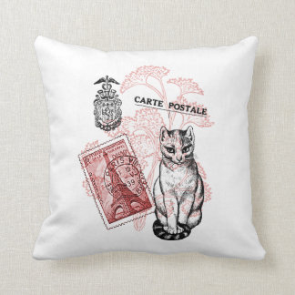 Paris Cat Throw Cushions