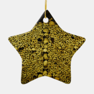 Paris Catacombs Skulls and Bones Christmas Tree Ornament