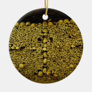 Paris Catacombs Skulls and Bones Christmas Ornaments