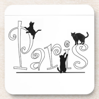 Paris Cats Coasters