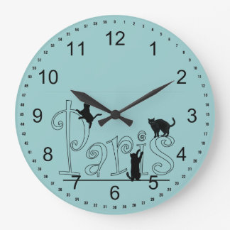 Paris Cats Wallclock