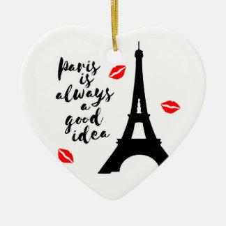 Paris Ceramic Ornament