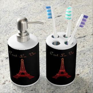 Paris: C'est La Vie Bathroom Set