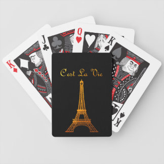 Paris: C'est La Vie Bicycle Playing Cards