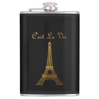 Paris: C'est La Vie Hip Flask