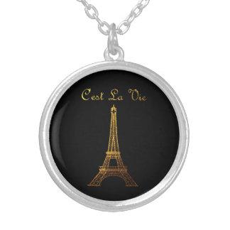 Paris: C'est La Vie Silver Plated Necklace