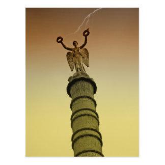 Paris - Châtelet Victory Column Postcard