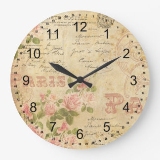 Paris Chic Large Clock