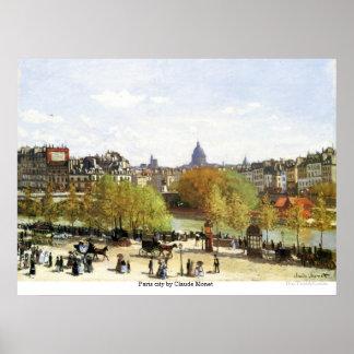 Paris city by Claude Monet Poster