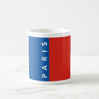 paris city flag france country text name coffee mug