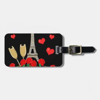 Paris - city of love bag tag