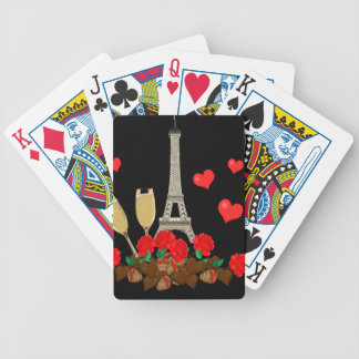 Paris - city of love bicycle playing cards