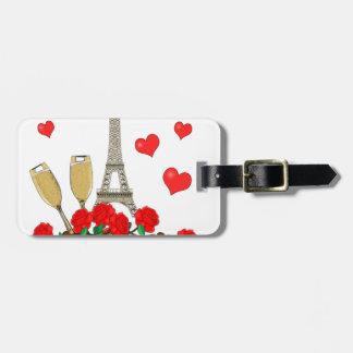 Paris, city of love luggage tag