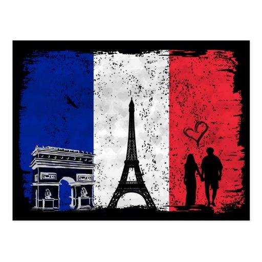 Paris city of love postcards