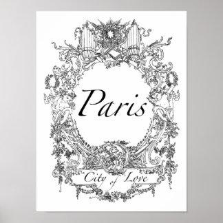 Paris : City of Love Poster Art Illustration