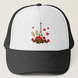 Paris, city of love trucker hat