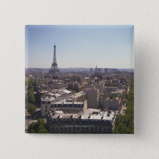 Paris cityscape,  Paris,  France 15 Cm Square Badge