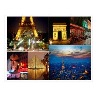 Paris collage france city travel cityscape postcard