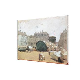 Paris Commune Stretched Canvas Print
